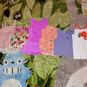Used Bundle of 6 Girl's 3T Summer Tops